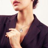 """女性のための本物の925純銀製のネックレスの骨董品の銀の馬の吊り下げ式のネックレスは18の宝石類に"""" Oの鎖罰金を科す"""