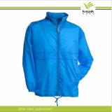 Homens azuis feito-à-medida revestimento de nylon do Windbreaker (KY-J042)