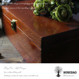 Hongdao Personalized Anniversary Gift Caja de madera con tapas abisagradas _E