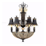 Candelabro de aço de Antique com Glass Shade (CH-850-5011X8)