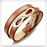 Edelstahl-Armband-Form-Schmucksache-Leder-Armband (LB266)