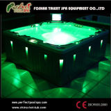 TERMAS luxuosos de Europa Design Whirlpool Jacuzzi Hot Tubs Outdoor com tevê e diodo emissor de luz Light