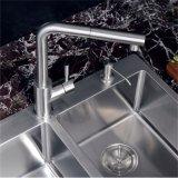 Colpetto della maniglia del rubinetto della cucina montato piattaforma placcato spazzola singolo in acciaio inossidabile 304