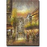 Pintura al óleo decorativa de la lona de arte de la calle de París del arte de la pared de Hotel&Homde