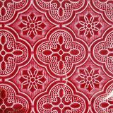 vetro modellato di colore di 3mm~5mm, flora verde, diamante rosso