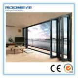 Portello di piegatura di alluminio esterno moderno della Bi di Roomeye con il doppio lustrato