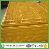 Custo - pó amarelo eficaz cerca provisória usada revestida
