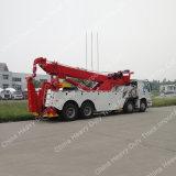Sinotruck HOWO 8X4 40-60tonの重い牽引の回復道のレッカー車