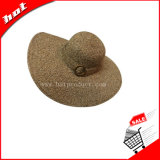 Chapéu grande da mulher do chapéu da borda do chapéu flexível do chapéu de palha