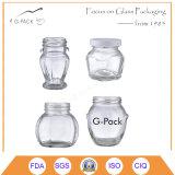 De aangepaste Kruiken van het Glas met Kappen, de Containers van het Voedsel