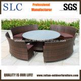 Mobília do restaurante/mesa redonda de vime grande de mesa redonda (SC-B8917)