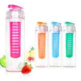 Bottiglia di acqua di plastica della bottiglia di Tritan della bottiglia della frutta della bottiglia di Tritan Infuser