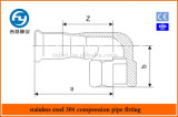 Edelstahl-Rohrpresstechnik 90 Grad Kurz Famale Thema Elbow