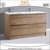 Vanità di legno della stanza da bagno della quercia di legno solido di N&L