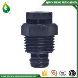 Soupape en plastique de desserrage d'air d'irrigation bon marché noire