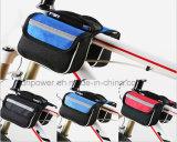 درّاجة مسيكة [بنّير] درّاجة درّاجة جبهة أنابيب حقيبة مع تغطية هاتف حامل (ليّنة)