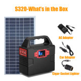 Gerador portátil da energia solar de fase monofásica com adaptador da potência