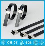 Aperçu gratuit matériel enduit en gros de serres-câble d'acier inoxydable du Boule-Verrou 304 de PVC de la Chine