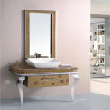 Mobilia d'acciaio diritta della stanza da bagno del pavimento semplice con lo specchio