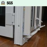 Wit Openslaand raam UPVC met Onstabiel Slot, het Scherm K02055 van de Rol