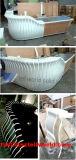 Счетчик салона счетчика наличных дег конструкции способа магазина парикмахера светотеневой, мраморный стол приема