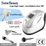 Máquina portátil do RF Cryotherapy da cavitação do laser de Cryolipolysis Lipo