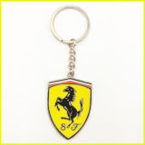 Silbernes Plated 3D F1 Car Racing Keychain