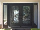 Двери ковки чугуна дверей входа красивейшего порошка Coated
