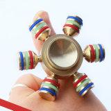 Hexagon Speelgoed van de Gyroscoop van de Vingers van de Vingertoppen van de Spinner van de Hand van de Legering van het Aluminium Spiraalvormige