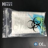 Bolso del espécimen de Biohazard de la pared Ht-0722 tres con una bolsa del documento