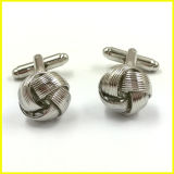 3D Silver Plated Twist Cuff Button