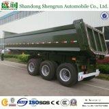 De Semi Aanhangwagen van de Vrachtwagen van de Lading van de Container van de Stortplaats van de Kipper van het Eind van de Cilinder van China Hyva van het nut