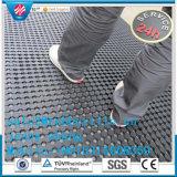 Ermüdungsfreie Gummischwarze Gummirollenmatteute-Matte der matten-10meter lang