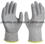Анти--Отрежьте упорную перчатку работы при покрынный PU (PD8026)