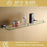 6 - 12 milímetros dirigem vidro endurecido/Tempered pequeno de vidro decorativo de canto da prateleira da parede
