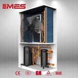 家の暖房のためのヒートポンプに水をまく空気
