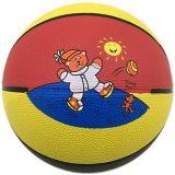 Резиновый цветастый спортивный миниый баскетбол