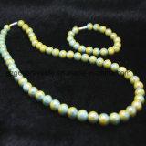 Turmalina de Lujo y Collar de Perlas de Germanio con Juego de Pulseras