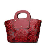 女性のためのハイエンド贅沢な中国様式のカスタム赤い革肩のトートバック