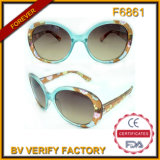 Hot Selling Flower Pattern Frame Plastic Sunglasses (F6861)