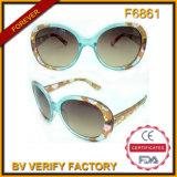 Heiße verkaufenblumen-Muster-Feld-Plastiksonnenbrillen (F6861)
