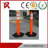 Borne vermelho reflexivo plástico do Delineator da mola do PVC da T-Parte superior do tráfego da segurança de estrada