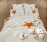 ロマンチックなBedding Set Starfish Genuineの女王王の真珠様式