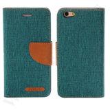 iPhone를 위한 고품질 지갑 손가락으로 튀김 가죽 이동 전화 상자 6 6s