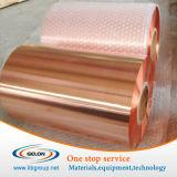 Folha de cobre para a carcaça do ânodo da bateria (9um densamente)