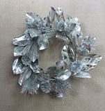 Guirnalda del cono de la hoja/de la baya/del pino de la magnolia como guirnalda de la Navidad