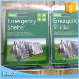 アルミニウムで処理された冒険防風ポリエステルは緊急の小型テントを遊ばす