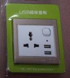 Всеобщая двойная стенная розетка USB