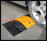 Producto amarillo y negro de la chepa de goma de la velocidad de la seguridad en carretera