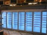 Handelsweg im Kühlraum mit elektrischer erhitzter Glastür